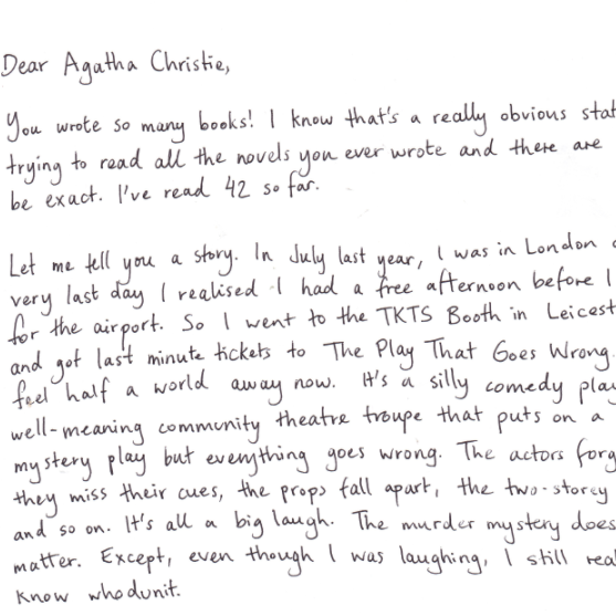 Dear Agatha Christie